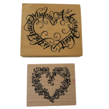 Lot of 2 Rubber Stamps Hearts Made in USA K-1466 & G-1251 PSX  - $19.99