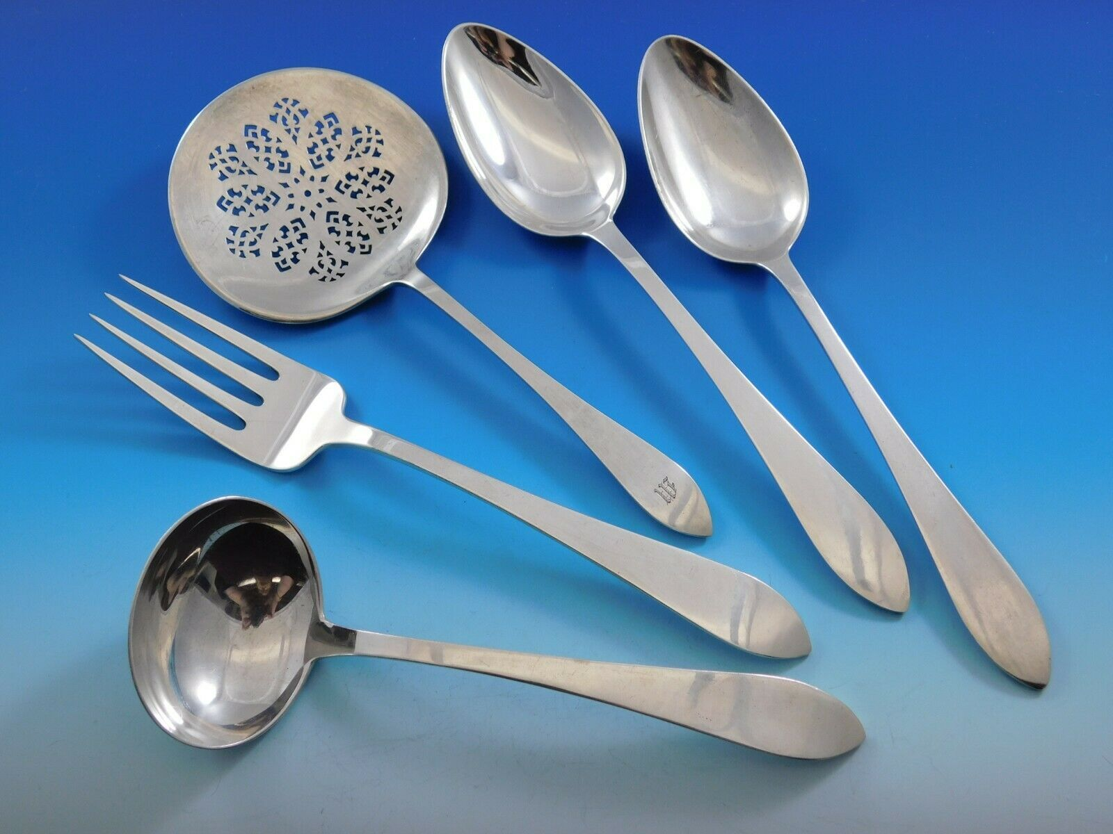 Primary image for Faneuil by Tiffany & Co. Sterling Silver Essential Serving Set Small 5-piece