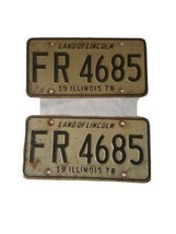 1978 Illinois License Plates  image 1
