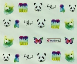 BANG STORE Nail Art Water Decals Dogs Panda Puppies Sweet Angel Butterfly CUTE - $2.11