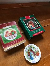Lot of 3 Vintage to Now Hallmark Porcelain Grandma's House Morning of Wo... - $11.29