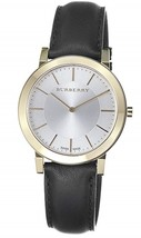 NWT *AUTHENTIC* Burberry BU2353 Men's Slim Silver Dial Goldtone Case Watch - $329.95