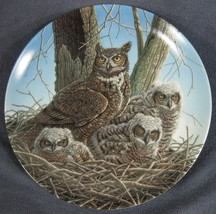 Great Horned Owl Collector Plate The Stately Owls Jim Beaudoin Knowles - $19.95
