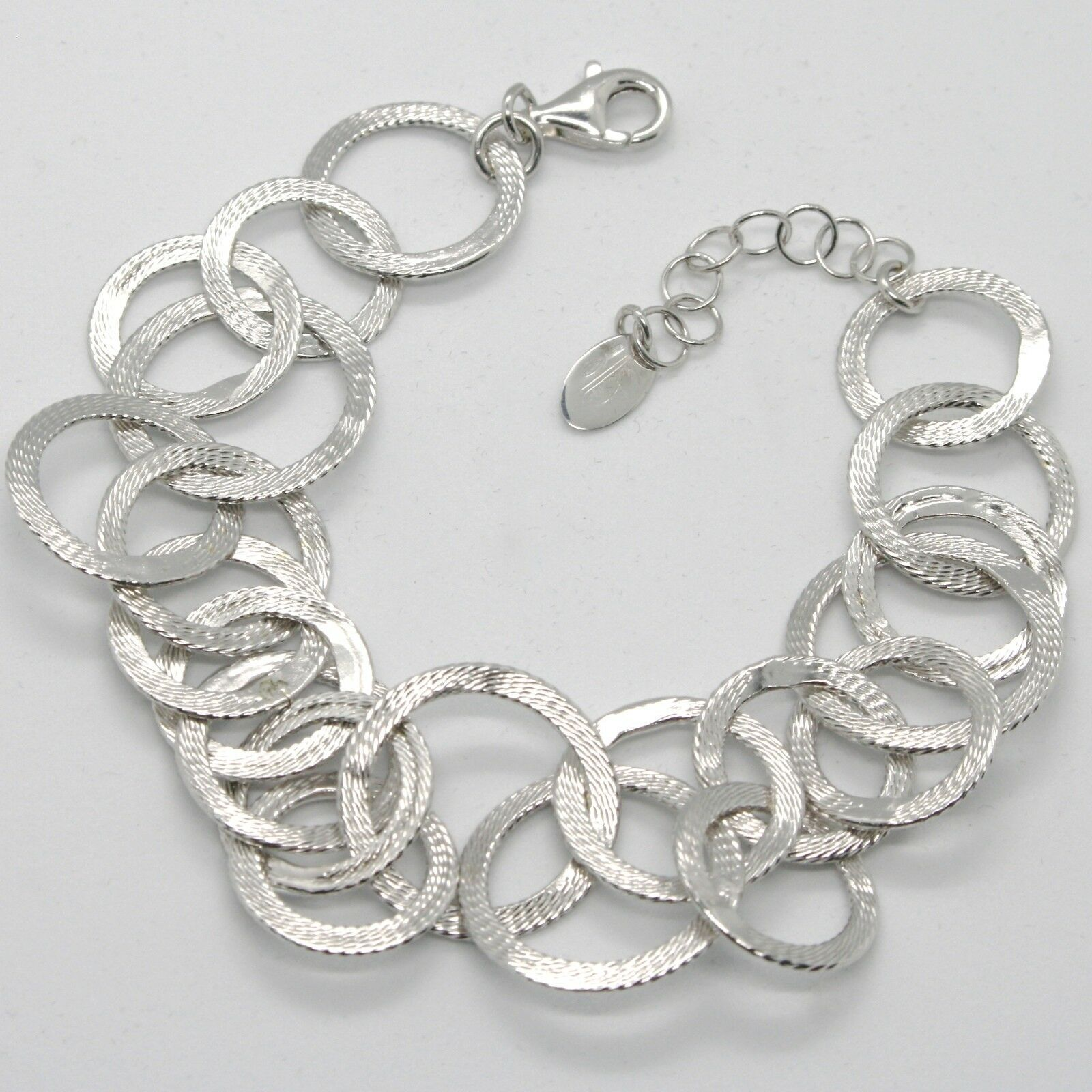 Primary image for Silber Armband 925 mit Kreise Mattiert By Maria Ielpo , Made in Italien