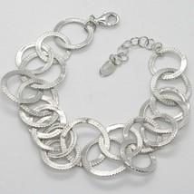 Silber Armband 925 mit Kreise Mattiert By Maria Ielpo , Made in Italien - $241.92