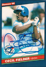 Cecil Fielder Signed Blue Jays 1986 Donruss Rookie Card #512 - $50.00