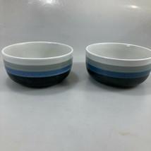 "Otagiri Midnight Set of 2 Soup Cereal Stoneware Bowls Blue Gray 5.5 x 3""... - $57.33"