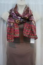 Echo Design Scarf Sz OS Pink Purple Multi Color Paisley Casual Scarf 705162 - $19.71