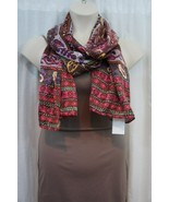 Echo Design Scarf Sz OS Pink Purple Multi Color Paisley Casual Scarf 705162 - $19.71