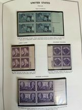 MNH 1938-1984 US Plate Block Collection Stamp Album Harris United States USA image 10