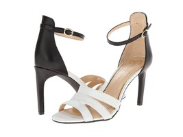 JESSICA SIMPSON MASELLI SOFT WHITE/BLACK STRAPPY HEEL WOMEN Sizes 8-9.5 - $49.95
