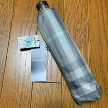 Burberry folding umbrella rare gray check pattern new unused - $224.72