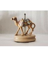 RARE! MUSIC BOX COVER CAROUSEL CAMEL AND ANGEL MULTICOLOR DECORATIVE BOX... - $19.79
