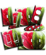 RED WATERMELON SLICES LIGHT SWITCH OUTLET WALL PLATES KITCHEN PANTRY ROOM DECOR - $10.99 - $21.99