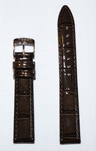 Original Tissot PR 100 LADY 16mm Brown Patent Leather Watch Band Strap T... - $68.00