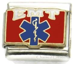 9mm Italian Charm EMT Emergency Medical Technician Hospital Doctor Nurse ER DR - $7.91