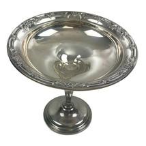 Vintage International Sterling Silver Wild Rose Pedestal Compote Candy Dish U23 - $74.76