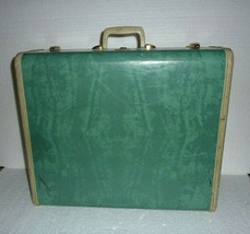 Vintage Samsonite Bermuda Aqua Green Hard Suitcase Shwayder Bros Style 5151 - $38.69