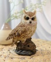 Eagle Owl Owlet Baby On Tree Stump With Motion Sensor Live Hooting Sound... - $44.99