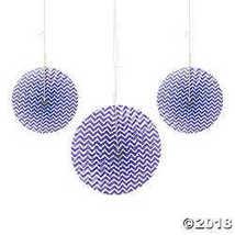 Purple Chevron Hanging Fans - $19.98