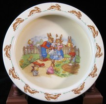 "R.D. Bunnykins Round Baby Bowl ""Watering The Flowers""  - 6""  - $12.34"