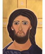 Christian Greek Orthodox Icon of Jesus Christ, Byzantine Religious Icon ... - $99.00