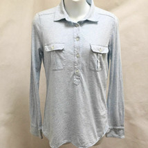 Vineyard Vines XS Polo Shirt Blue Knit Button Pocket Long Sleeve Top - $21.54