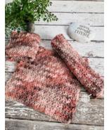 Brown Dish Cloths Organic Natural Cotton Pink Beige Kitchen Dishcloths S... - $19.99