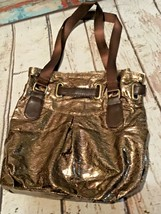 Bath & Body Works small tote Makeup Cosmetic Bag bronze NEW  - $8.59