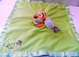 Disney Baby Tigger Orange Green Satin Security Baby Blanket ! - $5.78