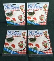 Retired NIP Lot of 4 Daisy Kingdom Potted Red Geraniums No Sew Appliqués... - $17.11