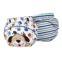 Lovely Dog Pattern Baby Elastic Cloth Diaper Cover (M, 9-11KG)