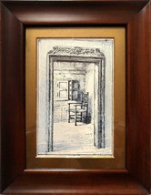 LOUIS H. GRIMSHAW (1870-1944) - SIGNED ORIGINAL ANTIQUE INK DRAWING - MA... - $1,794.57