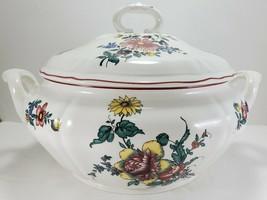 Villeroy & Boch Alsace Soup Tureen 3.5 Qt White Multi-Color Floral Covered Bowl - $222.75