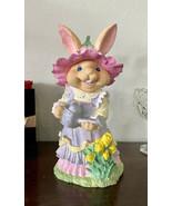 Easter Tabletop Decor Garden Bunny Figure Decor Figurine Spring Home Dec... - $29.92