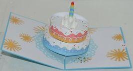 Lovepop LP2552 Rainbow Happy Birthday Cake Pop Up Card White Envelope image 3