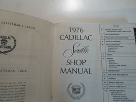 1976 Cadillac SEVILLE Service Shop Repair Manual 2 VOL SET 76 WATER DAMAGED image 6