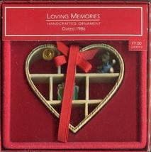 1986 - New in Box - Hallmark Christmas Keepsake Ornament - Loving Memories - $3.95