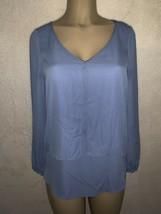 White House Black Market Womens Blue Top Long Sleeve Lagenlook Sanctuary... - €16,18 EUR