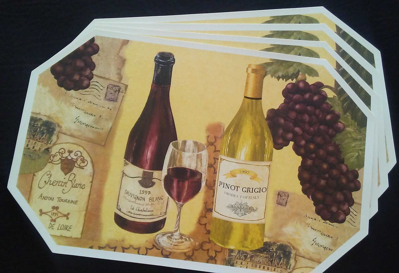 Wineplacemats vinyloctagonchateau