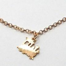 Silver Bracelet 925 Laminated in Rose Gold le Favole Little Train AG-901-BR-41 image 2