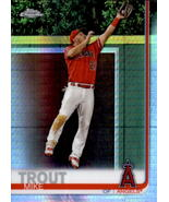 Mike Trout 2019 Topps Chrome Prism Refractor Card #200 - $30.00