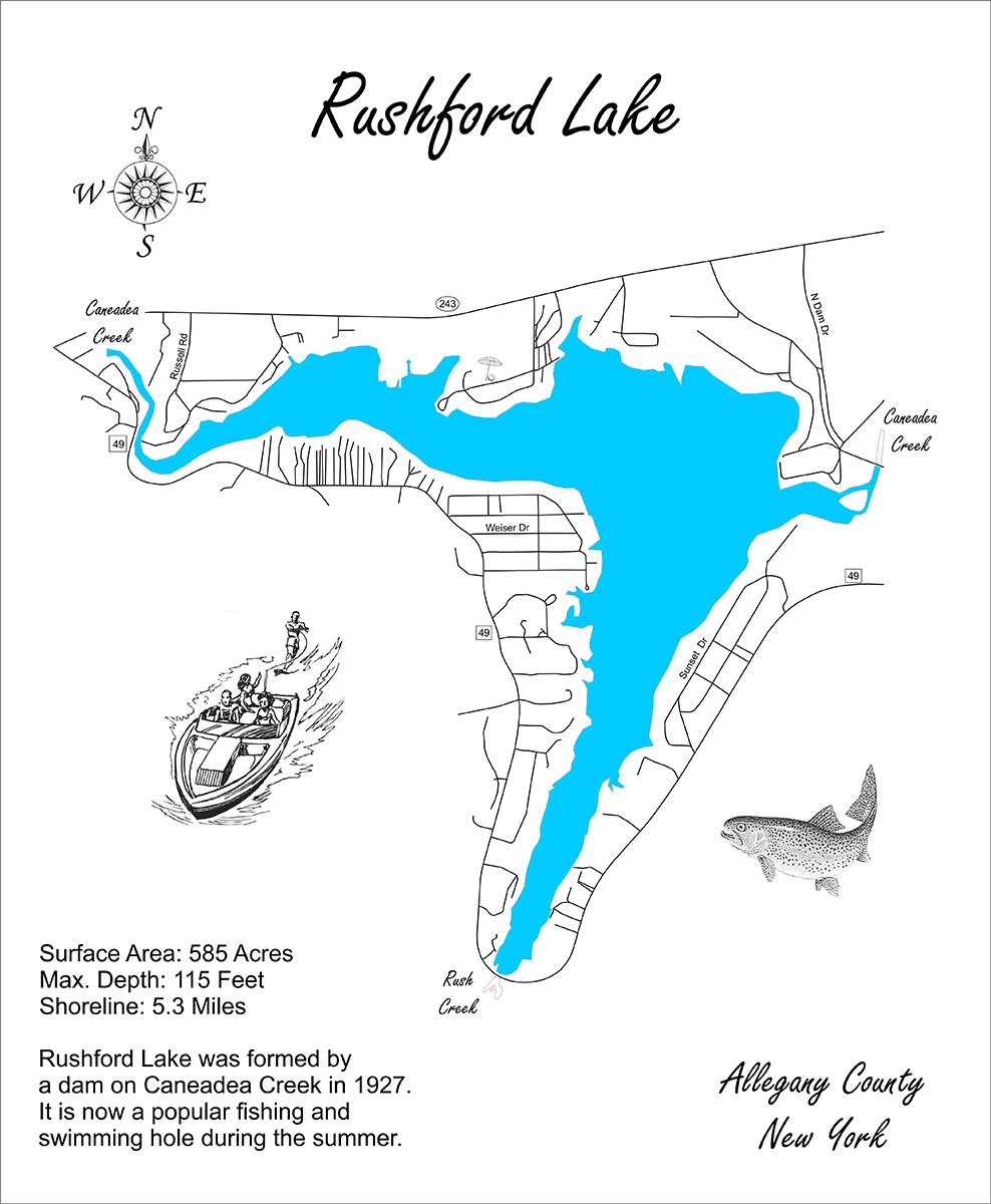 rushford lake ny map Wood Laser Cut Map Of Rushford Lake New And 50 Similar Items rushford lake ny map