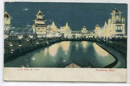 Luna Amusement Park At Night Cleveland Ohio 1908 postcard - $6.44