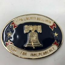 VTG Liberty Bell Bicentennial 1776 1976 Belt Buckle Patriotic American USA  - $34.64