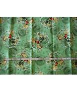 Pokemon Fabric  2005 NEW Green Flannel 1 3/4 Yards - $18.17