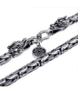 Women Vintage Dragon Head Clasp Thai S925 Sterling Silver Necklace Chain - $118.10+