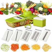 New Mandoline Slicer Vegetable Cutter Julienne Grater 5 Stainless Steel ... - $9.41