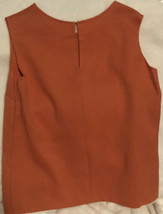Vintage Women's Sleeveless Red Top Shirt Large - $9.89