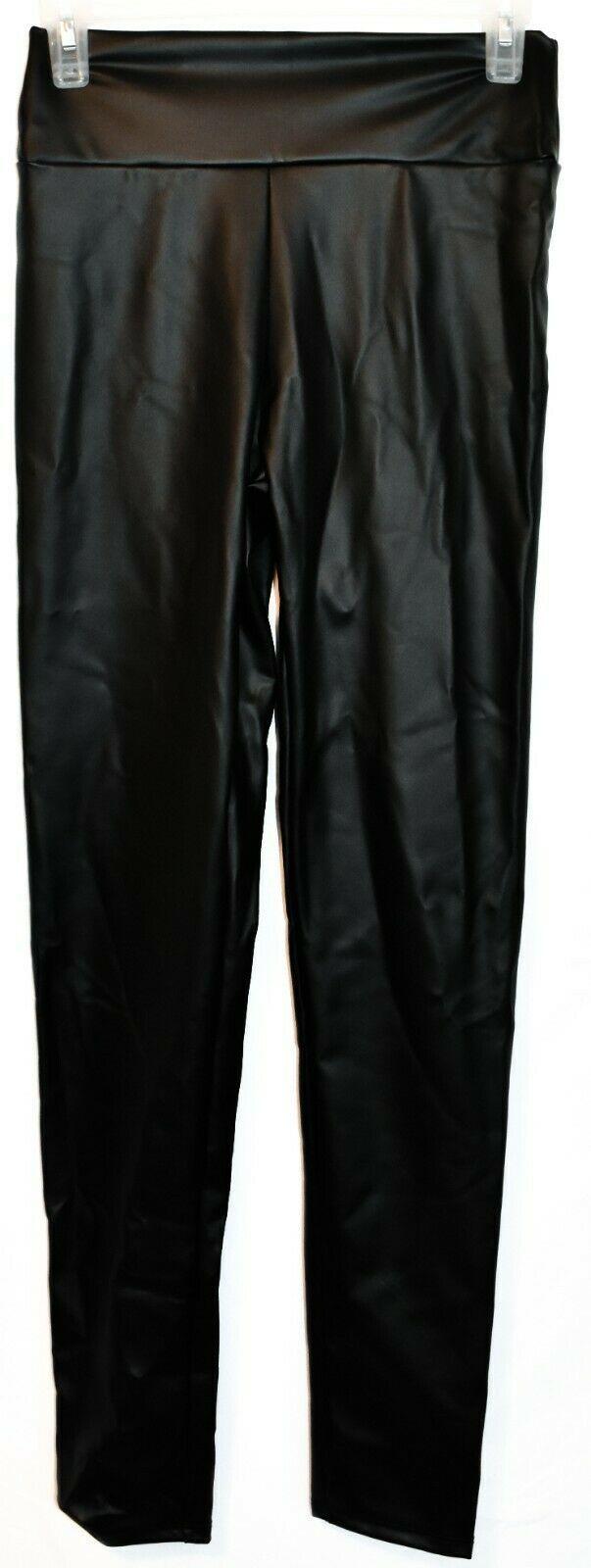 Windsor Women's Black Faux Leather High-Rise Upgrade Ya Liquid Leggings S NWT